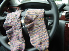 socks in car