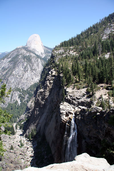 Waterfall and Half Dome