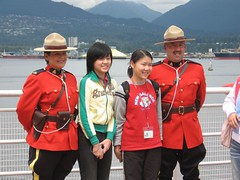 Students posing with RCMP Officers