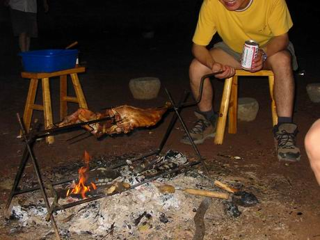 烤羊腿喝啤酒(barbecue)