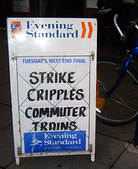 South West Trains Strike - Evening Standard