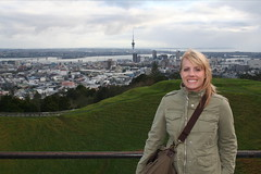 Jen with view of Auckland