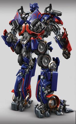 Otimus Prime de espaldas Transformers la pelicula
