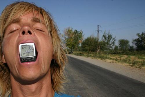 8000 km...Near Tashkent, Uzbekistan.