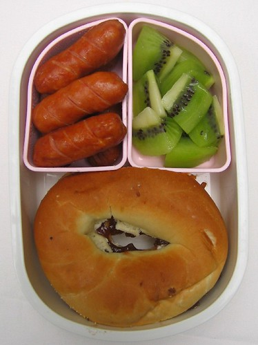 Mini bagel sandwich lunch お弁当