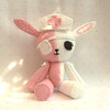 custom mini bunny nurse plush