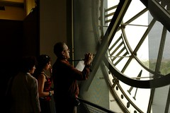 Looking out, Clock face in Musee d'Orsay
