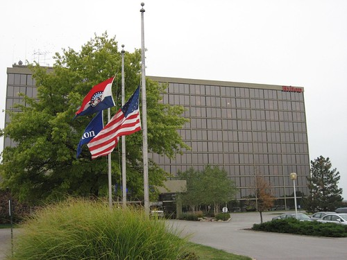 Flags flying at half mast on 9/11 day in the heart of US - Kansas City, MO