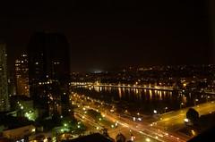 Sungai Seine di waktu malam ...