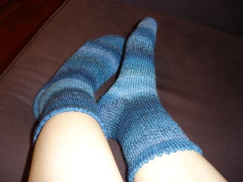 first toe-up socks