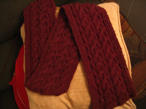 The scarf at about 60% complete