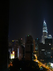 petronas tower from my apartment