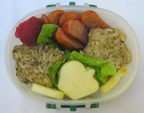 Pesto rice lunch for toddler お弁当