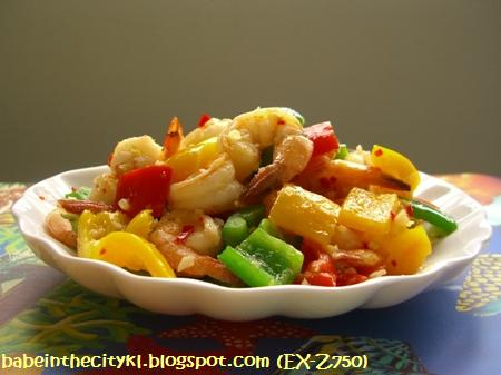 stir fry prawns with bell peppers1
