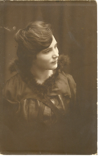 Young Philadelphia Woman, Realphoto Postcard