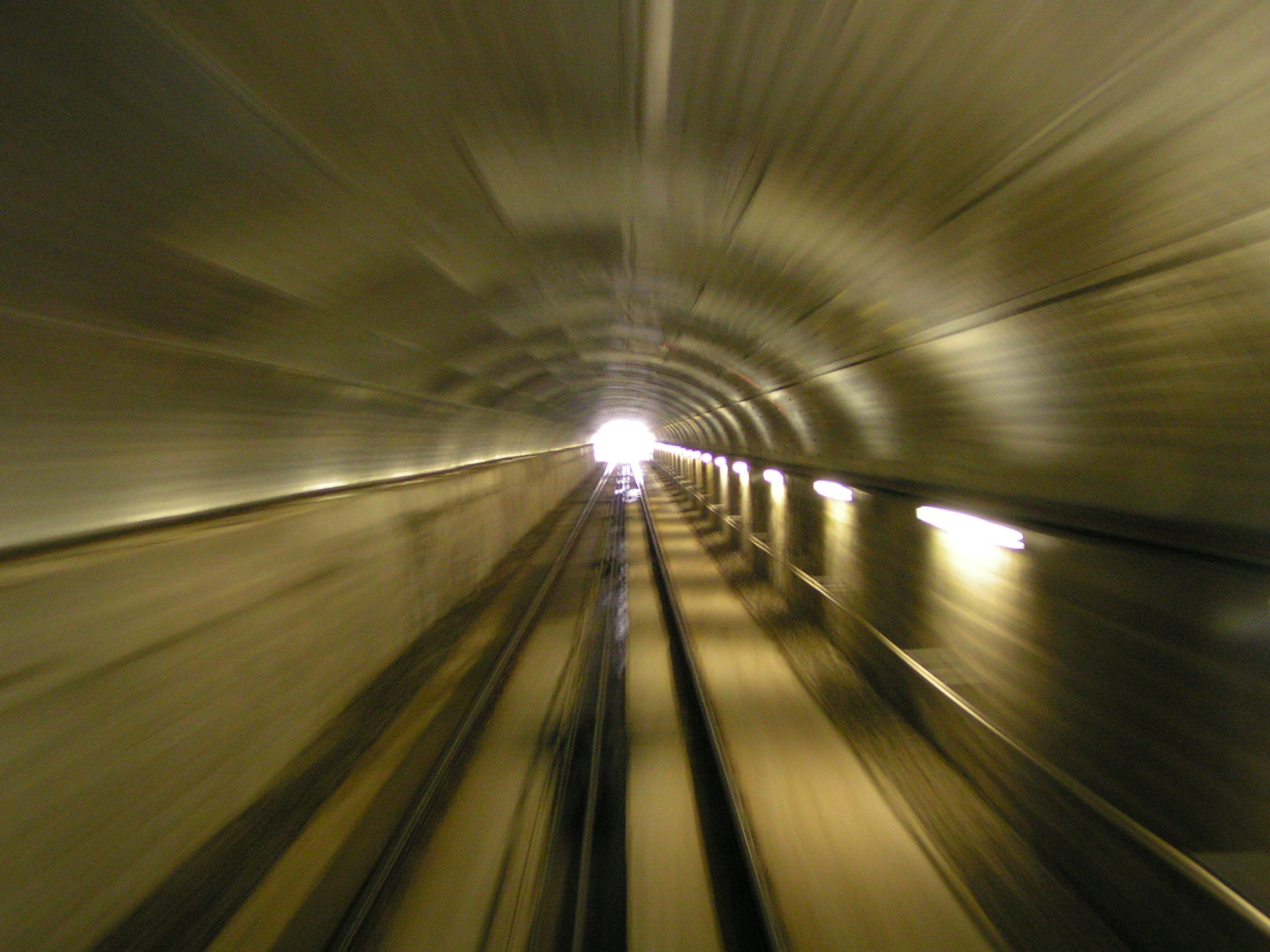 Entering the highest underground railway station in the world