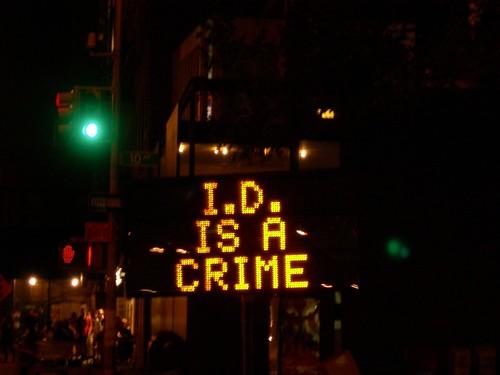 I.D. is a crime