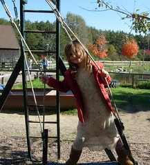 Isabel loves to swing