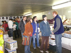 On the market tour, produce room, Kang Farms (now MS 3000 Food Service)