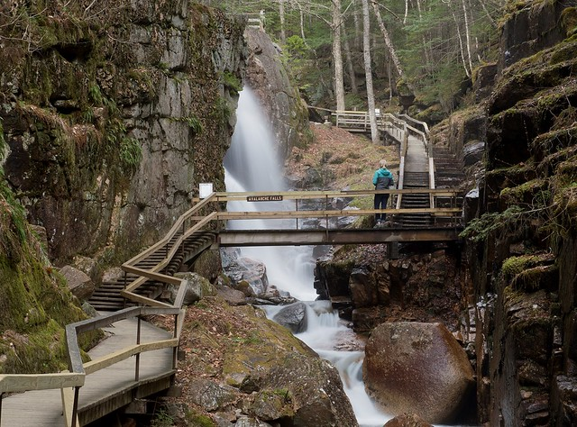 5/15/18 The boardwalks are finished and the Flume is now fully open