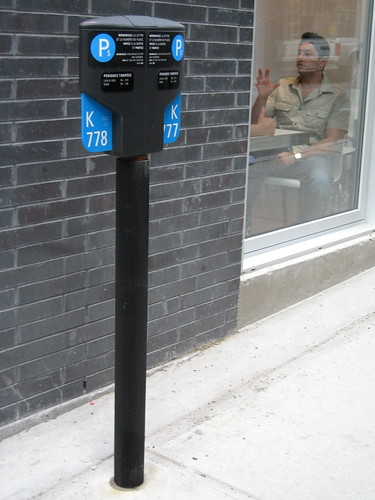 Parking sign/bike rack