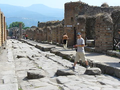 Passage piétons à Pompéi