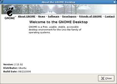 Ubuntu Edgy. GNOME 2.15.92