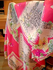 Silk with romantic print