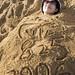 被沙埋起來的喵喵