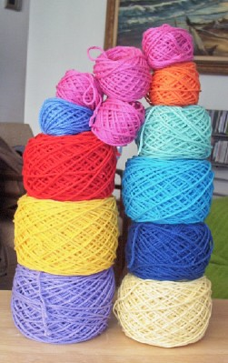 left over yarn