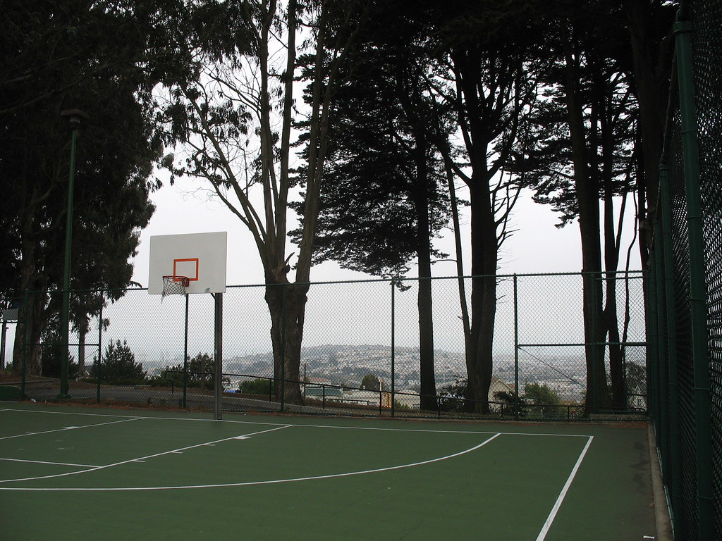 basketball court in holly park