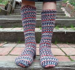 P's socks on