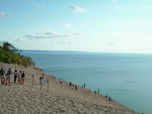 Dune climb from the side
