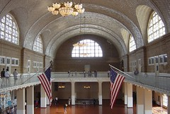Ellis Island, registration hall