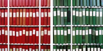 Arrange books by colour