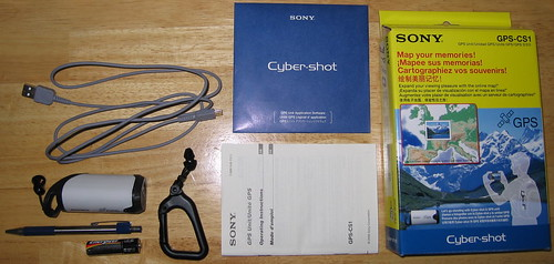 [Sony GPS-CS1 package]