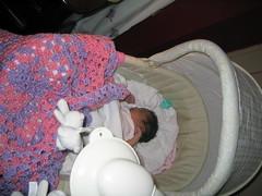 Tanji with her blankey