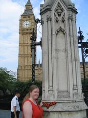 The sock visits Big Ben