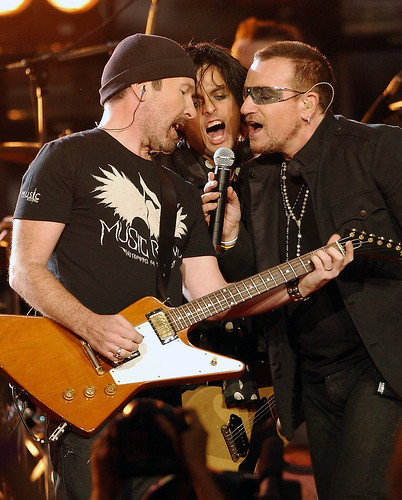 The Edge, Billie Joe y Bono