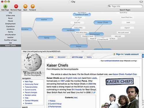 Pathways: Wikipedia mapping tool for Mac