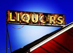 liquor sign lomo