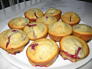 Muffins griotte-pistache