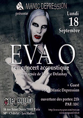 Flyer concert Eva O �  Paris