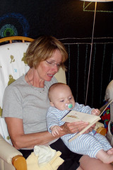 Nancy reading to Logan