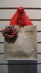 tote with quechan textile flower (dédalo)