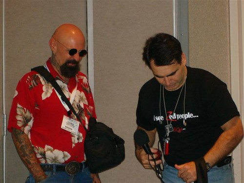 Me with Bruce Murray at the 2006 Podcast and Portable Media Expo in Ontario, California