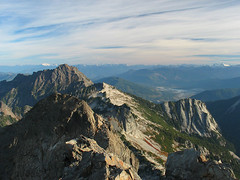 Shuksan, Whitehorse, Darrington and North Cascades from 3 Fingers