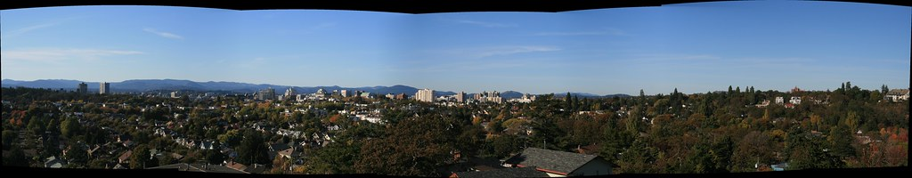 Panoramic View of Victoria, BC