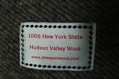 Sewn label on Hudson Valley Blanket