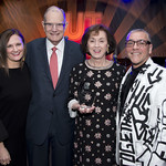 2018 Spirit of Writers Theatre Honorees Stephanie and Bill Sick with Executive Director Kathryn Lipuma and Artistic Director Michael Halberstam